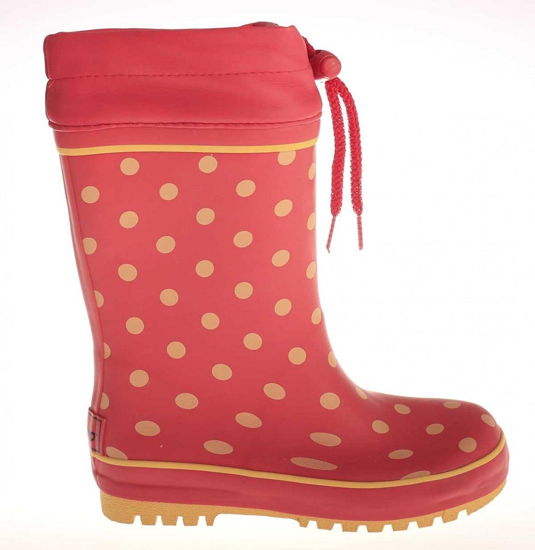 Maximo Kinder-Gummistiefel Regen-Stiefel Kinder-Stiefel rot mit Punkten