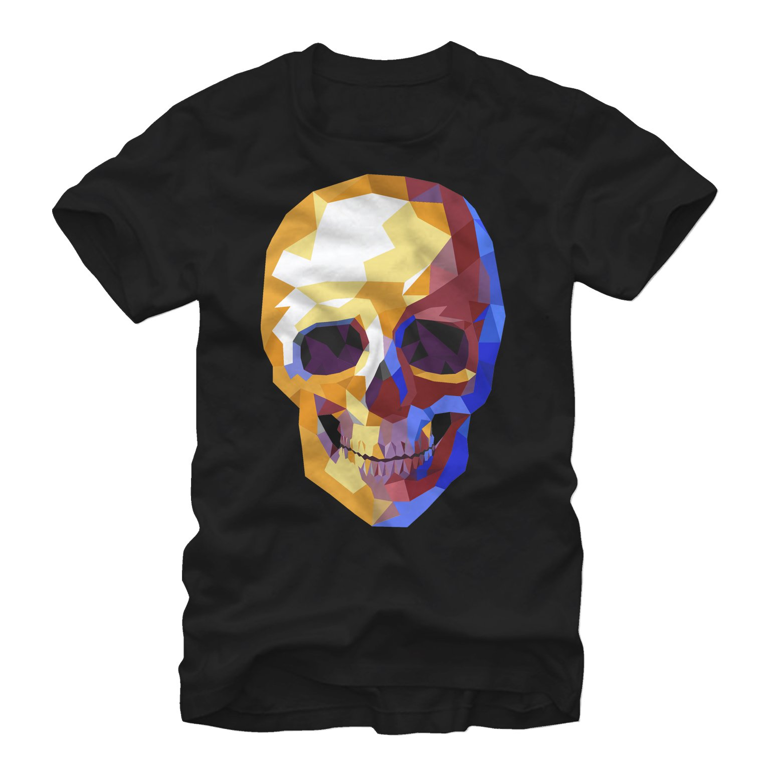 Geometric Skull Mens Graphic T Shirt