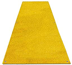 Outdoor Turf Wedding Aisle Runner - Yellow - 3\' x 10\' - Many Other Sizes to Choose From