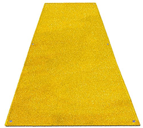 Outdoor Turf Wedding Aisle Runner - Yellow - 3' x 40' - Many Other Sizes to Choose From