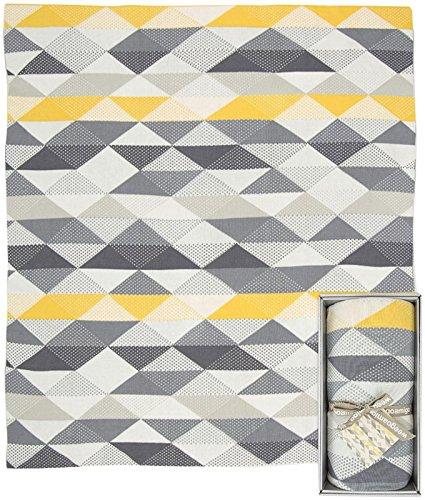 Weegoamigo Knitted Blanket- Geo Charcoal