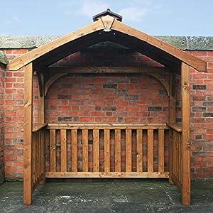 Anchor fast pine wood bbq grilling pavillion shelter amazon co uk