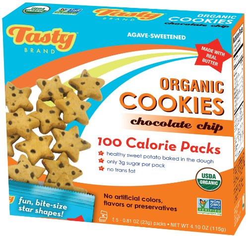 Tasty Brand Organic Cookies, Chocolate Chip,