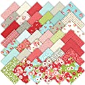 "Moda Ruby Charm Pack 5"" Quilt Squares"