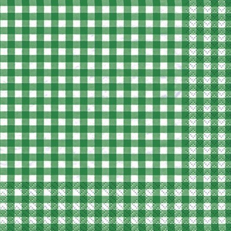 serviette-33-x-33-cm-lot-de-20-carreaux-vert-fonce