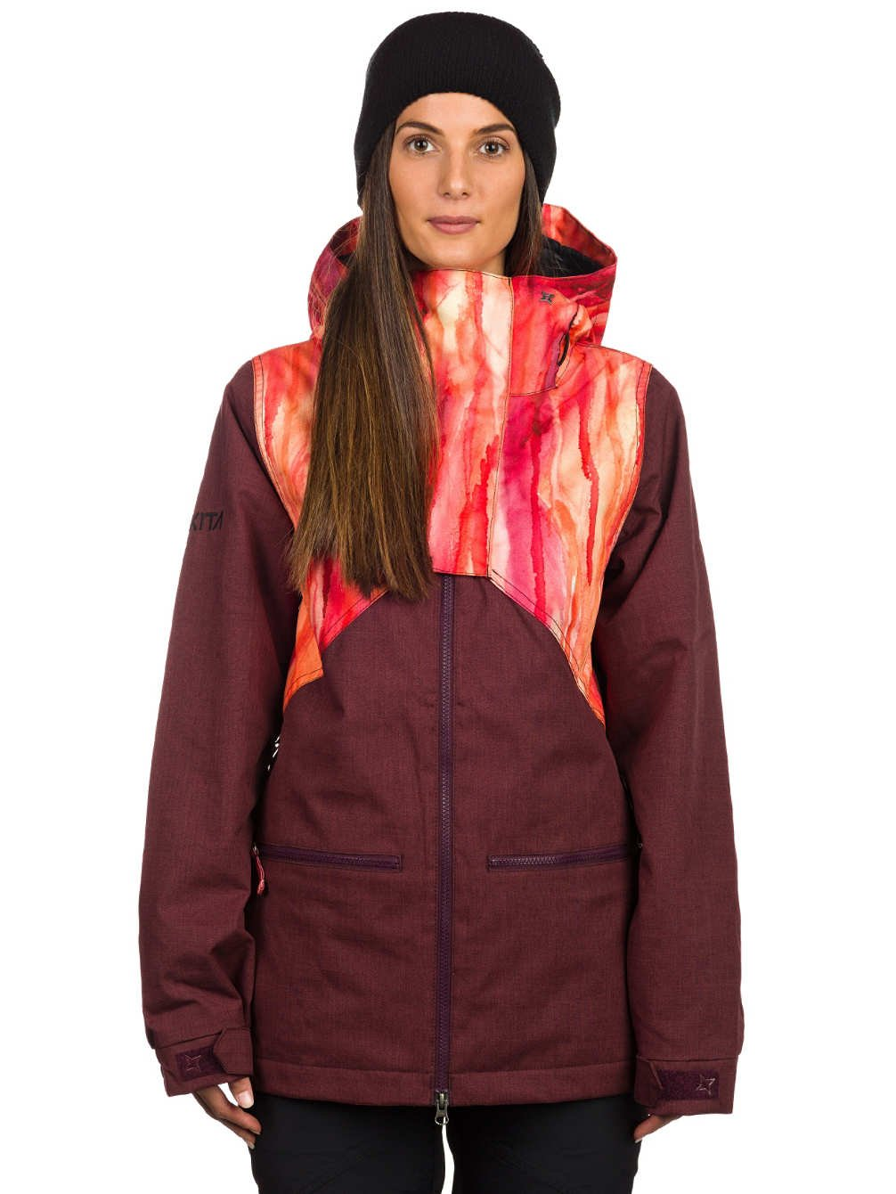 Damen Snowboard Jacke Nikita Hel Water Color Print Jacket