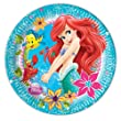 23cm Disney Princess Ariel Little Mermaid Party Plates, Pack of 8