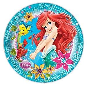 Disney Princess 23 cm The Little Mermaid Dinner Plates