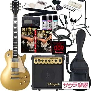 Maison メイソン エレキギター レスポールタイプ サクラ楽器オリジナル LP-28/GD 初心者入門20点セット