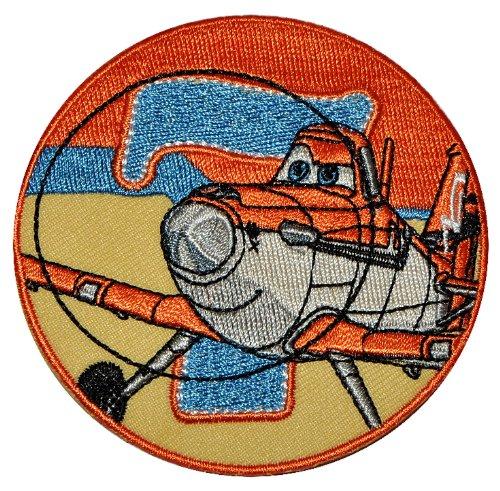 Bügelbild - Disney Planes Sprühflugzeug Dusty 8 cm - Aufnäher Applikation Flugzeug Piper Pawnee