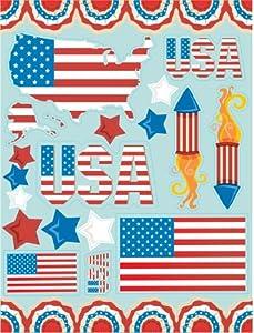 Eureka US Flags Patriotic Clings by Paper Magic Group, Inc.