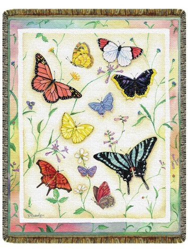 American Butterflies Tapestry Throw front-681302