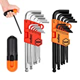 HORUSDY Allen Wrench Set, Hex Key Set Long Arm Ball End, Inch/Metric - Best Unique Tool Gift for Men (New Hex Keys) (Color: White Balck, Tamaño: (3/64
