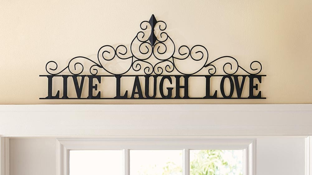 Circular metal wall art beautiful swirls curves decoration for Easy live laugh love home decor ideas