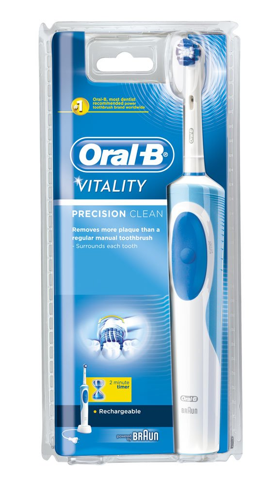 braun oral b vitality precision clean rechargeable toothbrush brand new ebay. Black Bedroom Furniture Sets. Home Design Ideas