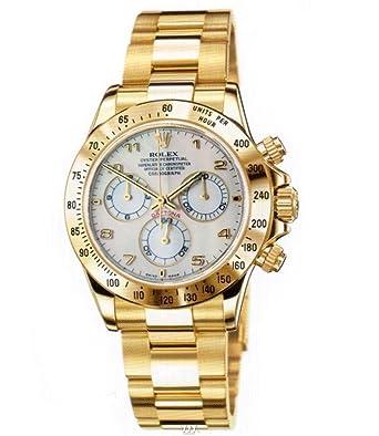 Rolex Mens Yellow Gold Daytona White Dial