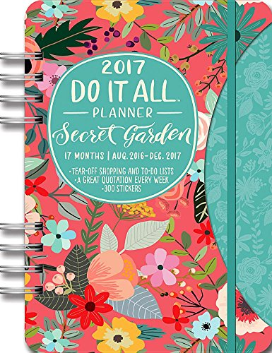 Orange Circle Studio 17-Month 2017 Do It All Planner, Secret Garden