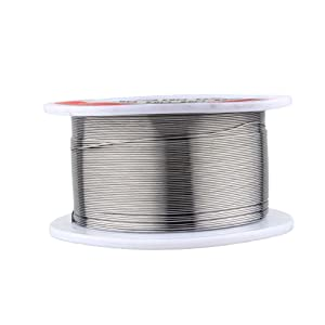 2Pack 0.3mm Tin Solder Wire,50g 0.3mm Tin Lead Rosin Core Solder Soldering Wire Sn60/Pb40 Flux 1.2%