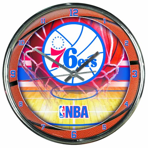 NBA Philadelphia 76ers Chrome Clock
