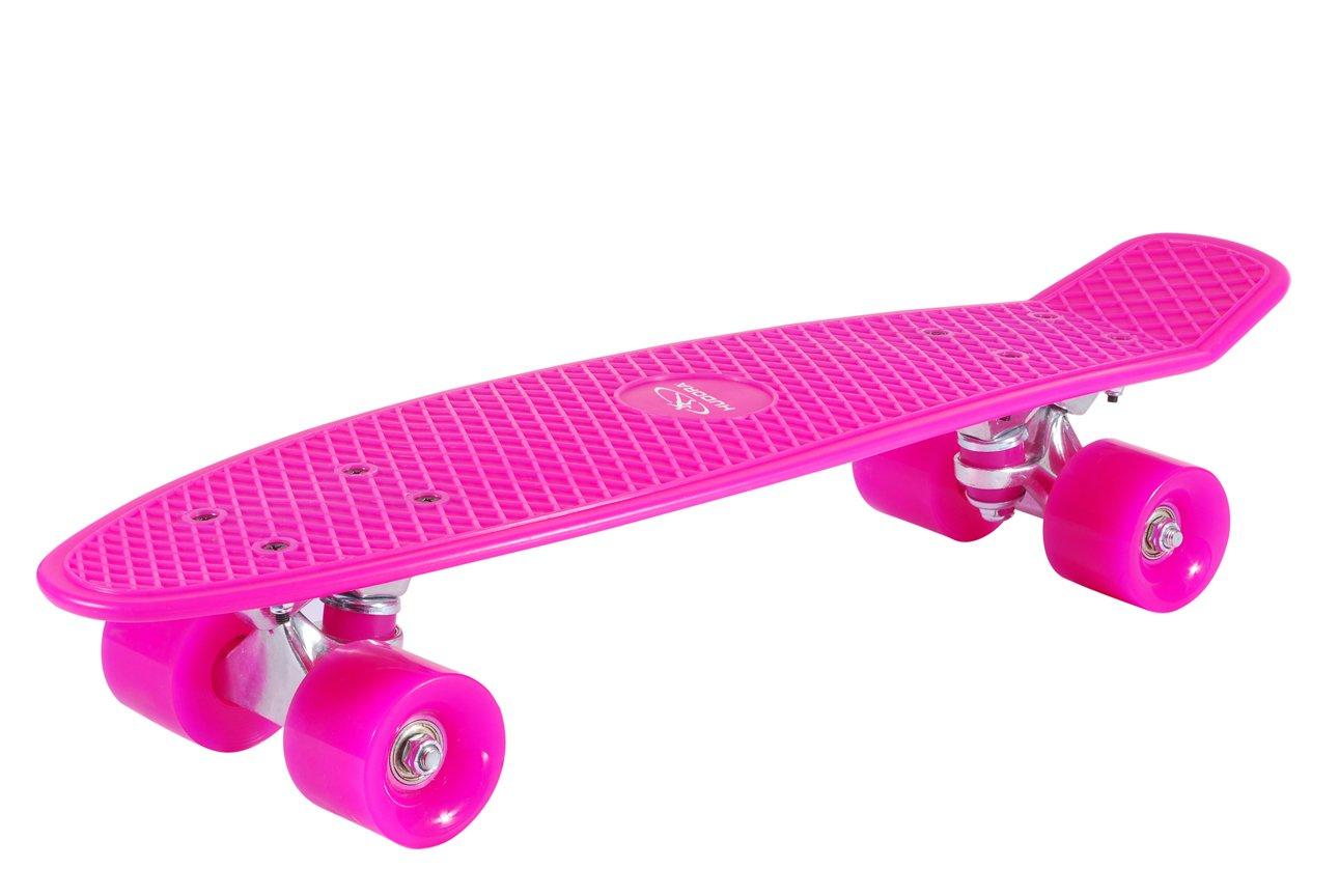 HUDORA Cruiser – Skateboard, Retro pink