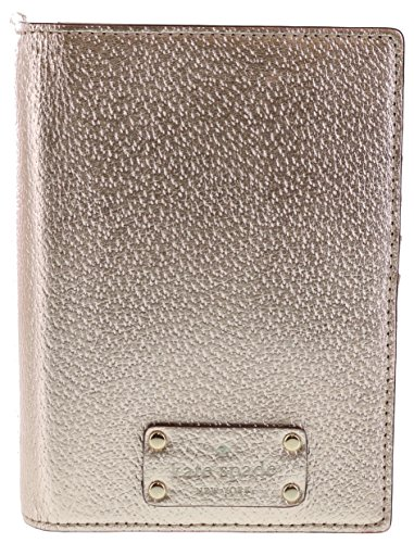 Kate Spade Wellesley Passport Holder Leather Case (Rose Gold)