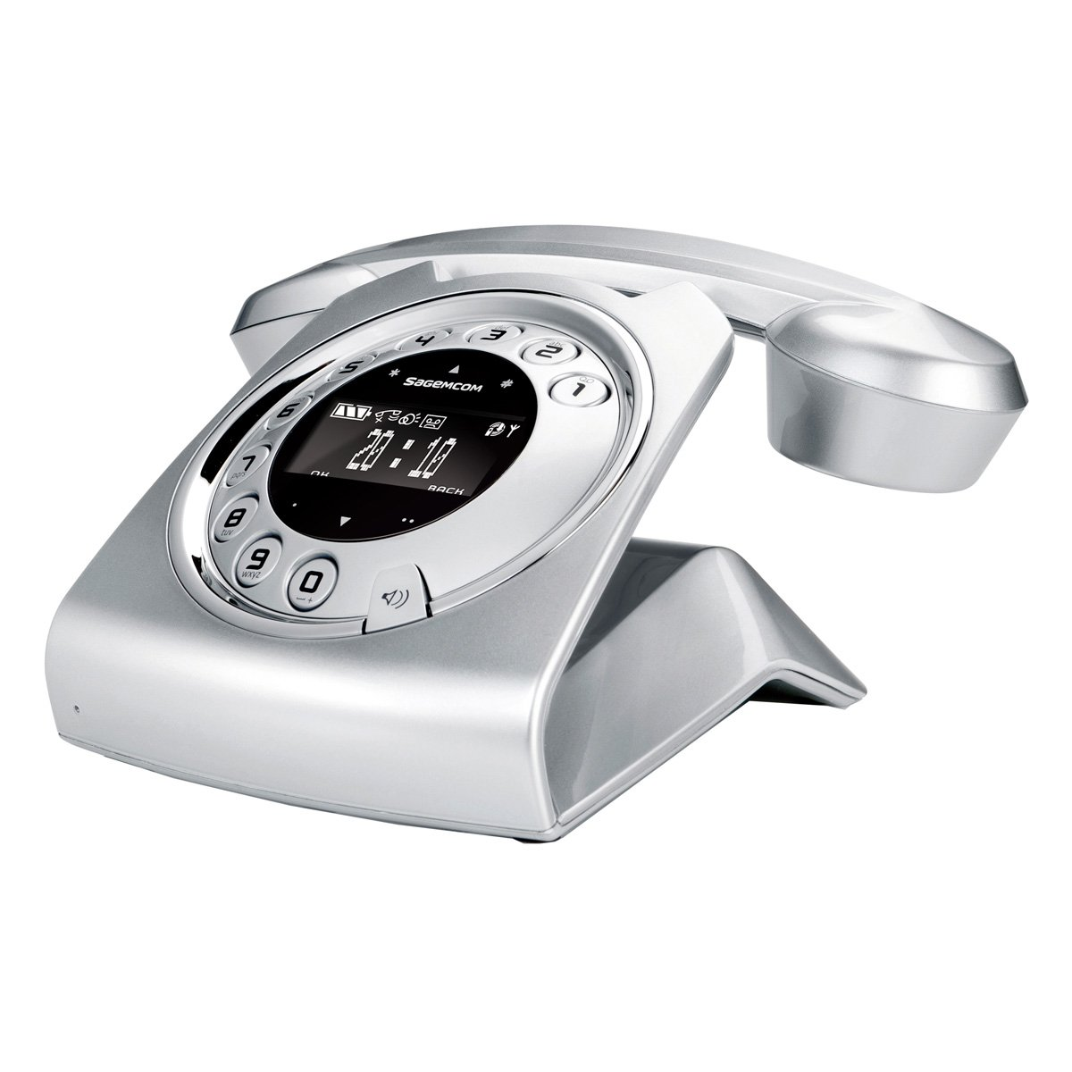 T�l�phone fixe SAGEM SIXTY GRIS SOLO AVEC REPONDEUR