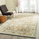 Safavieh Heritage Collection HG734A Handmade Light Blue and Ivory Wool Area Rug, 5 feet by 8 feet (5' x 8')