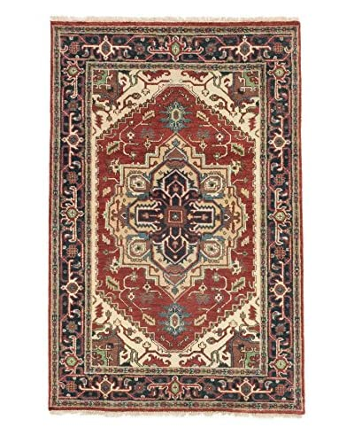 eCarpet Gallery One-of-a-Kind Hand-Knotted Serapi Heritage Rug, Dark Copper/Navy, 4' x 6' 2