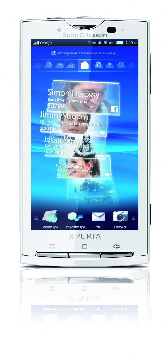 Smartphone SONY ERICSSON XPERIA X10 BLANC