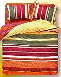 WRAP 100% COTTON DOUBLE BED DUVET SET (1 BEDSHEET 2 PILLOW COVERS & 1 DUVET COVER) CNSD-04
