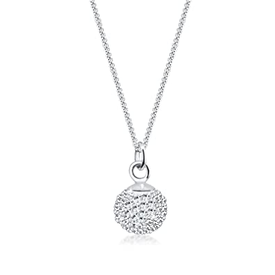 310acf964c Elli 0104891111_45 - Catenina con pendente da donna con cristallo  Swarovski, argento sterling 925, 450 mm: Prezzi!