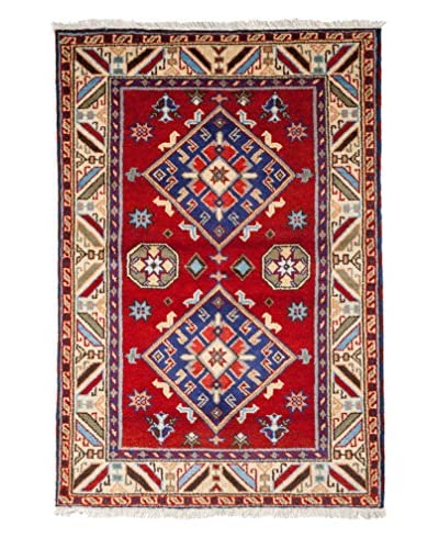 Darya Rugs Kazak Oriental Rug, Red, 6' 1 x 4' 1