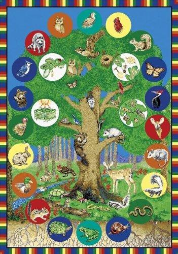 Joy Carpets Tree of Life Kids Area Rug