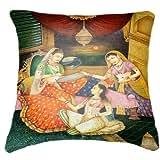 "Belkado Princesses Cushion Cover Throw Pillow ( Multi Color, 16""x16"" ) - B010LC99YO"