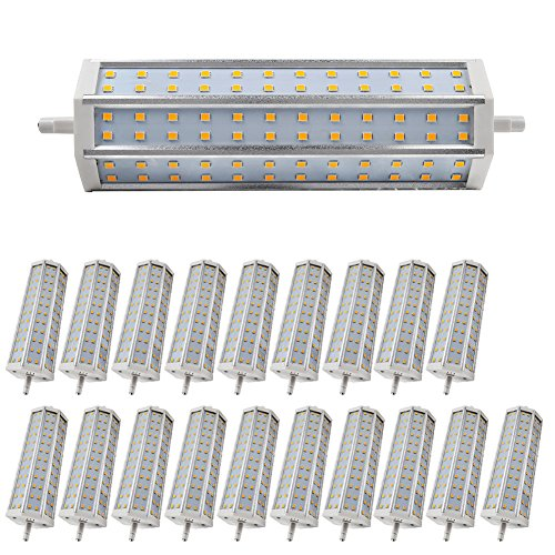 20X Smd 2835 Led R7S Bulb 14W Dimmable Lighting 1296Lm Warm White Low Consumption Ac 85-265V