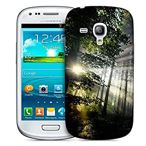 Snoogg Abstract Tall Trees Designer Protective Phone Back Case Cover For Samsung Galaxy S3 Mini