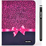 CowCool® Galaxy Tab 3 Case, Samsung Galaxy Tab 3 10.1 Case, Leopard print with Bow PU Leather Colorful Hand Stitching Wallet Leather Wallet Stand Kickstand Case for Samsung Tab 3 P5200 (Style3)