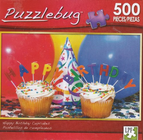 Puzzlebug 500 - Happy Birthday Cupcakes - 1