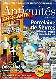ANTIQUITES BROCANTE [No 75] du 01/05/2004 - COMMENT ORGANISER UN VIDE-GRENIERS - PORCELAINE DE SEVRES - BIJOUX D'AFRIQUE DU NORD - L'ART DES CANNES - DECO CINEMA DANS VOTRE SALON....