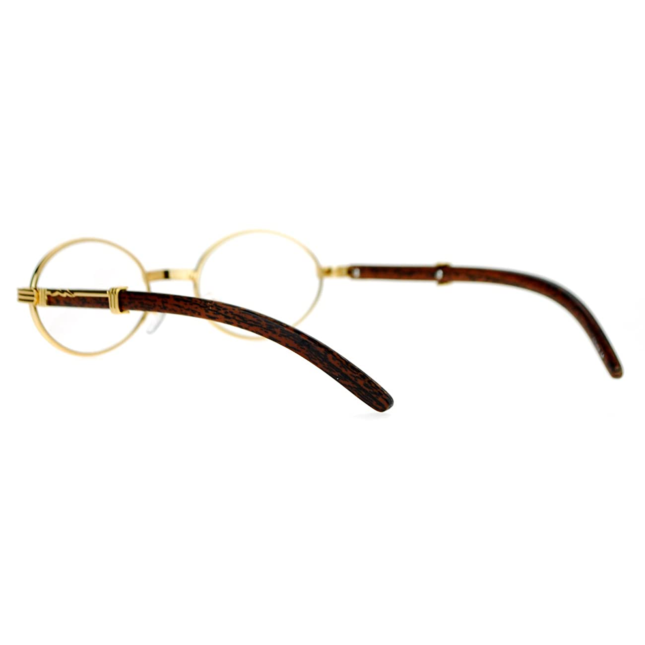 SA106 Art Nouveau Vintage Style Oval Metal Frame Eye Glasses 4
