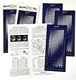 Moon Calendar 2017, Magnet, MoonMaggy - 3 Set, 3 Magnetic Calendars plus 3 Moon Over Me Almanac Information Cards