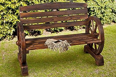 Gartenbank Wagenrad Sitzbank Bank Holz *407 von B.U.S. Wohnstyle GmbH - Gartenmöbel von Du und Dein Garten