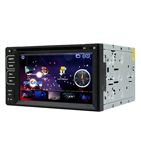 Rungrace Station Multimedia Windows CE 6.0 Universelle 2 Din avec GPS, Bluetooth, RDS, Multi-touches (RL-261WGNR02