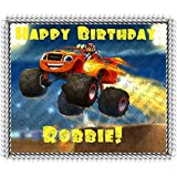 Blaze and the Monster Machines Edible Image Cake Topper