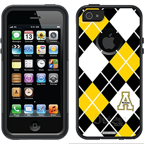 Appalachian State Argyle Design On A Black Otterbox® Commuter Series® Case For Iphone 5S / 5