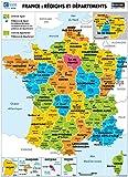 Poster France : Régions et départements