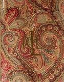 "Ralph Lauren Lauren Fenton Paisley Rust Oblong 60"" X 104"" Tablecloth"