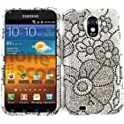 DIAMOND BLING COVER FOR SAMSUNG GALAXY SII EPIC 4G TOUCH CASE FACEPLATE HARD PLASTIC FLOWERS FD222 D710 CELL PHONE ACCESSORY