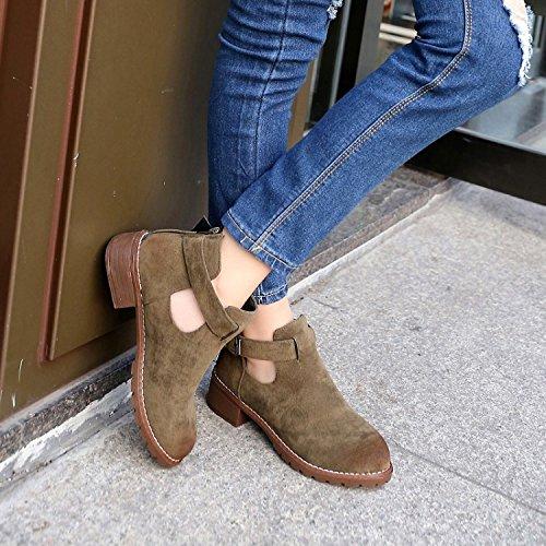 GGH Signore lavoro confortevole slittamento sui fannulloni delle donne scarpe casual Khaki,38