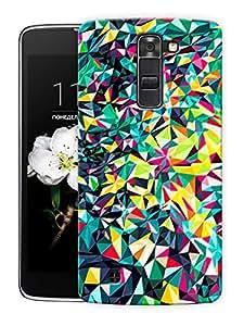 "Crystals Art Printed Designer Mobile Back Cover For ""LG K10"" By Humor Gang (3D, Matte Finish, Premium Quality, Protective Snap On Slim Hard Phone Case, Multi Color)"